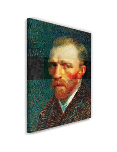 Tableau XXL painter self-portrait Image imprimé sur toile