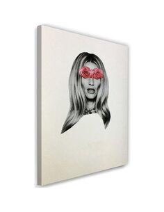 Tableau Picture Canvas XXL model face portrait Image Decor Pink imprimé sur toile