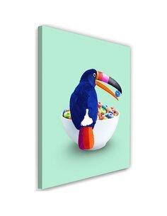 Tableau XXL Cereal Toucan Image Decor imprimé sur toile