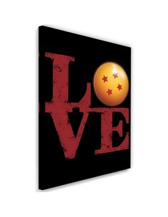 Tableau XXL Love Image Decor inscription Red imprimé sur toile