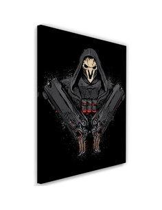 Tableau XXL Death Comes Image Decor Black imprimé sur toile