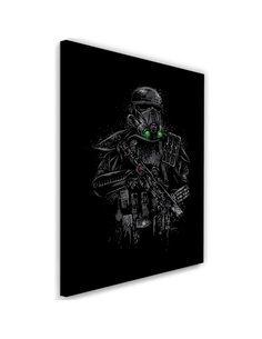 Tableau XXL Death trooper Image Decor Black imprimé sur toile
