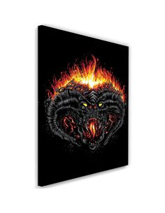 Tableau XXL Demon of Morgoth Image Decor Black imprimé sur toile