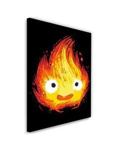 Tableau XXL Fire spirit Image Decor Ghost Red imprimé sur toile