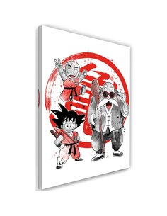 Tableau XXL Kame School Image Fine art Red imprimé sur toile