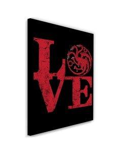 Tableau XXL Targaryen Love Image Decor Red imprimé sur toile