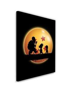 Tableau XXL Hakuna Matata Kame Image Orange imprimé sur toile