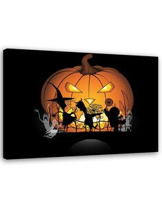 Tableau Image Print for kids Canvas Wall art Decor ghosts Orange imprimé sur toile