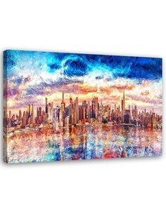 Tableau Canvas Wall art New York City Modern Image imprimé sur toile