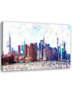 Tableau Canvas Wall art New York City 2 Modern Image imprimé sur toile