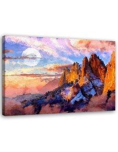 Tableau Image Print Colorado Mountains Canvas art imprimé sur toile