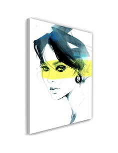 Tableau woman Image Decor watercolour imprimé sur toile