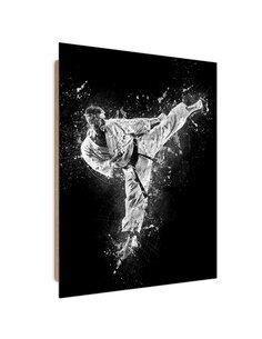 Tableau Karateka imprimé sur bois