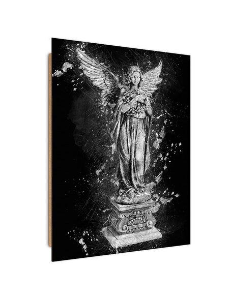 Tableau Angel Statue imprimé sur bois