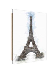 Tableau Eiffel Tower imprimé sur bois