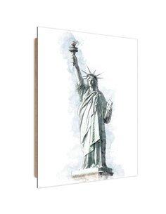 Tableau Statue of Liberty imprimé sur bois
