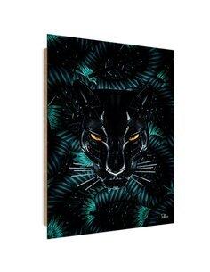 Tableau panther lurking imprimé sur bois