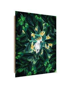 Tableau green hideaway imprimé sur bois