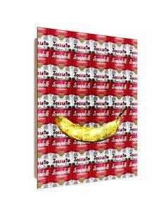Tableau banana and cans imprimé sur bois