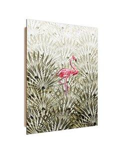 Tableau flamingo on the Buda side imprimé sur bois