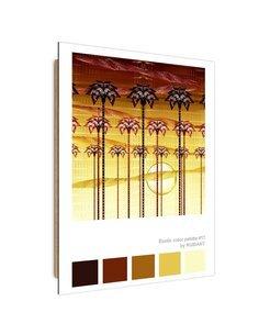 Tableau palm trees at sunset imprimé sur bois