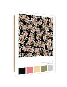 Tableau Pink Flowers imprimé sur bois