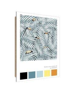 Tableau Hidden Toucans imprimé sur bois