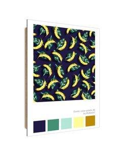 Tableau Banana rain imprimé sur bois