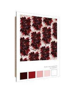 Tableau claret colored leaves imprimé sur bois
