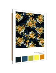 Tableau Modern flowers imprimé sur bois
