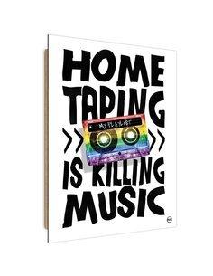 Tableau Rainbow Cassette imprimé sur bois