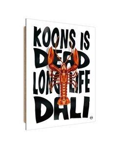 Tableau orange lobster imprimé sur bois