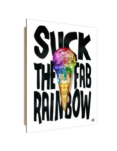 Tableau rainbow ice cream imprimé sur bois
