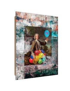 Tableau colored balloons imprimé sur bois
