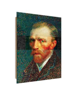 Tableau Van Gogh portrait imprimé sur bois
