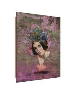 Tableau Pensive beauty imprimé sur bois