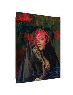 Tableau Woman with a Fan imprimé sur bois