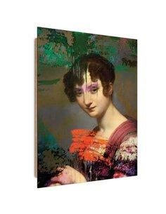 Tableau violet eyes imprimé sur bois