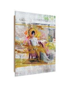 Tableau lady in the chair imprimé sur bois