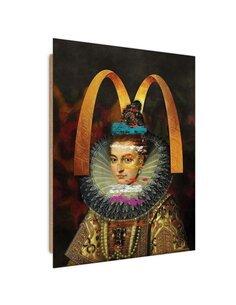 Tableau woman in a lace ruff imprimé sur bois