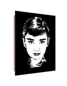 Tableau star Pop Art imprimé sur bois