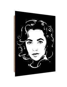 Tableau star Pop Art 2 imprimé sur bois
