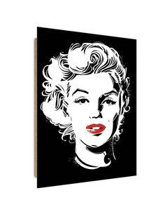 Tableau well-known actress Pop Art imprimé sur bois