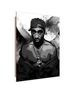 Tableau King Rap imprimé sur bois