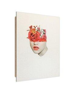 Tableau red flowers Collage imprimé sur bois