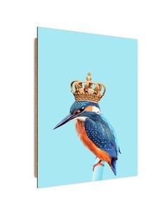 Tableau Kingfisher in the crown imprimé sur bois
