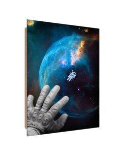 Tableau Welcoming astronauts imprimé sur bois