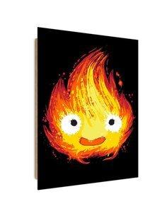 Tableau cheerful flame imprimé sur bois