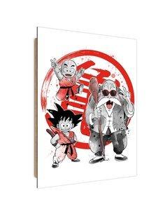 Tableau Manga little warriors imprimé sur bois