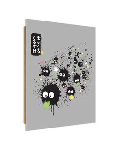 Tableau Manga eaters stars imprimé sur bois